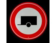Verkeersbord RVV C10 - Gesloten voor aanhangers