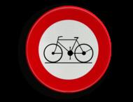 Verkeersbord België C11 - Verboden toegang voor bestuurders van rijwielen.