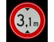 Verkeersteken RVV C19-xx - met vrij invoerbare opdruk