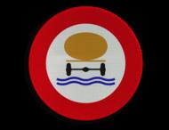 Verkeersbord België C24c - Verboden toegang voor bestuurders van voertuigen die gevaarlijke verontreinigende stoffen vervoeren.