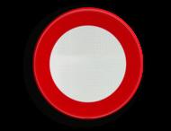 Verkeersbord België C03 - Verboden toegang, in beide richtingen, voor ieder bestuurder