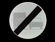 Verkeersbord België C41 - Einde verbod opgelegd door het verkeersbord C39.
