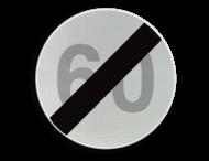 Verkeersbord België C45 - Einde van de snelheidsbeperking opgelegd door het verkeersbord C43.