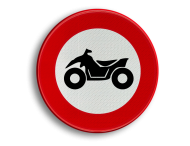 Verkeersbord België C06 - Verboden toegang voor bestuurders van motorvoertuigen met vier wielen