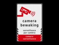 Verkeersbord videobewaking - 3 talen