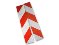 Containermarkering rood/wit klasse 2 (set 2 stuks / 1 zijde)