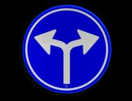 Verkeersbord RVV D07 - Verplichte rijrichting links of rechtsaf