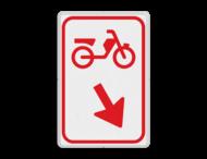 Verkeersbord RVV D103 / D104 - Bromfietsers passeren
