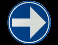 Verkeersbord België D01d-rechts - Verplicht rechts afslaan
