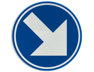 Verkeersbord België D01g - Verplicht rechts aanhouden