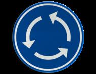Verkeersbord België D05 - Rotonde - Verplicht rondgaand verkeer