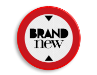 Logobord rood/wit/zwart ROND