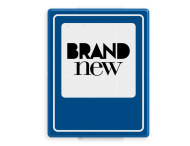 Logobord blauw/wit RECHTHOEK - P