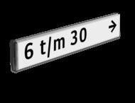 Verwijsbord kokerprofiel +1 kleur opdruk DUBBELZIJDIG