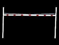 Doorrijhoogteportaal met staanders ø102mm - Breedte 3 tot 9 meter - rood/wit