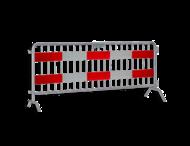 Dranghek 19 spijlen met vol reflecterende panelen klasse 3 rood/wit