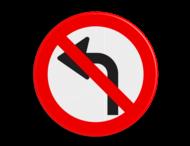 Verkeersbord D serie OUD MODEL - verboden af te slaan