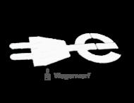 Markering E-laad logo wegenverf