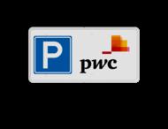 Parkeerplaatsbord 400x200mm Eigen ontwerp