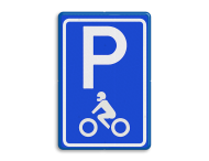 Verkeersbord RVV E08m - motor - Parkeerplaats motoren