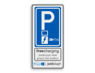 Parkeerbord Elektrisch parkeren in huisstijl  - Justplugin