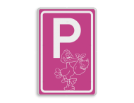Logobord [P] ooievaar, girl