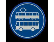 Verkeersbord RVV F17 - Rijbaan of -strook bus en tram
