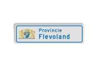 Provinciebord rechthoek VOL reflecterend + full-colour opdruk