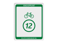 Knooppuntbord Knp Fietsroute DOR 300x380mm