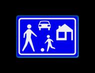Verkeersbord RVV G05 - Woonerf