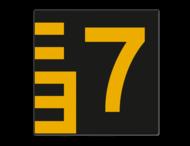 Scheepvaartbord BPR G. 5.1 - 100x1000mm - Hoogteschaal - zwart/geel rechts