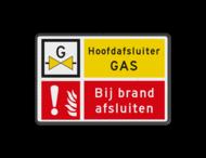 Informatiebord - Gasafsluiter - bij brand sluiten