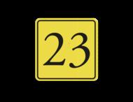 Huisnummerbord (LOS)  geel/zwart - reflecterend klasse 3