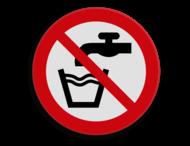 Veiligheidspictogram - Geen drinkwater - P005