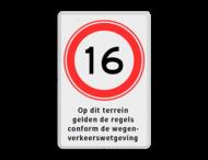 Verkeersbord RVV A01-xxx met ondertekst