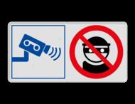 Veiligheidsbord met instructies | 2 symbolen liggend