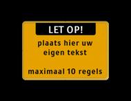 Tekstbord landscape 3:2 met banner en eigen tekst