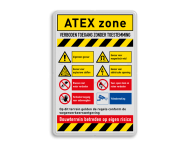 Veiligheidsbord met instructies | ATEX zone met symbolen en teksten