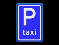 Verkeersbord RVV E05 - Taxistandplaats