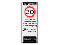 Verkeersbord 400x1000mm et-A01-odt_video_art461