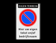 Parkeerverbord RVV E01 + tekst - BT28
