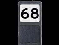 Huisnummerpaal met BORD NEN1772 - klasse 3