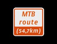 Mountainbikeroutebord 119x109mm met tekst - klasse 3