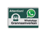 WhatsApp - Sweden - Attention! Grannsamverkan - L209wa