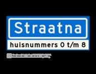 Straatnaambord KOKER - 08 karakters - 500x200 mm + huisnummer(s) - NEN1772