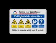 Veiligheidsbord met instructies | 3 regels / 5 symbolen