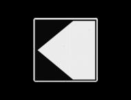 Scheepvaartbord BPR F. 2a links - Richtingaanduiding met zijborden