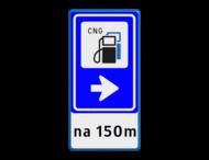Bewegwijzering Openbare ruimte + tekst | BW101 + pijlfiguratie