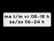 Verkeersbord RVV OB204p - Onderbord - Geldt alleen voor periode