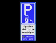 Verkeersbord parkeren elektrische voertuigen + Tarieven - BE04f